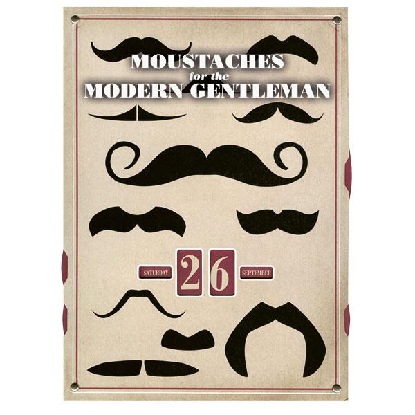 Moustaches For The Modern Gentleman A Perpetual Wall Calendar 1