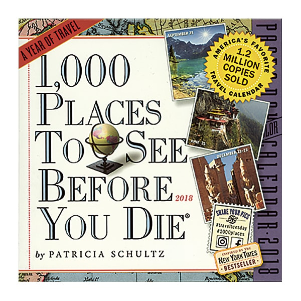 1000 Places To See Before You Die 2018 Page A Day Calendar