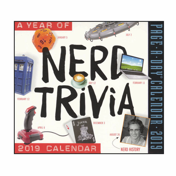 photograph about Page a Day Calendar identified as A Yr Of Nerd Trivia 2019 Calendar