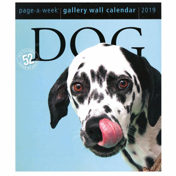 Dog 2019 Page A Week Gallery Wall Calendar Spiral Wall Calendar