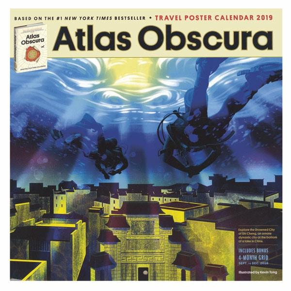 Atlas Obscura Travel Poster 2019 Wall Calendar