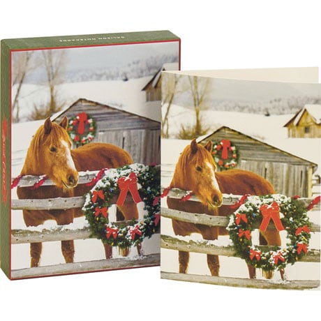 Barn Horse Boxed Holiday Notecards