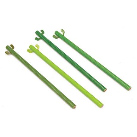 Cactus Pencils Set Of 4