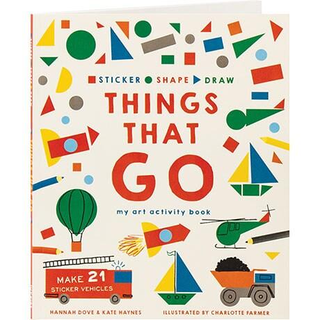 Sticker Shape Draw: Things That Go