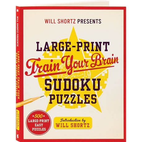 Will Shortz Presents Large-Print Train Your Brain Sudoku Puzzles