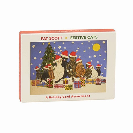 Festive Cats Boxed Holiday Notecard Assortment