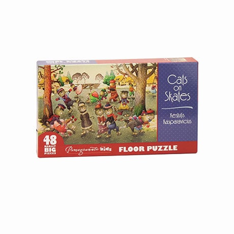 Cats On Skates Floor Puzzle