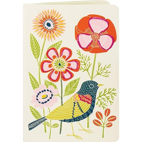 Avian Friends Handmade Embroidered Journal