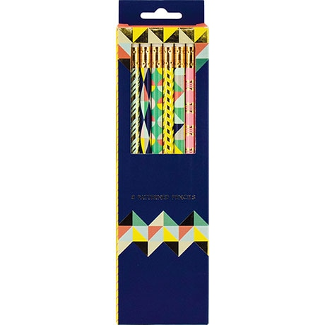 Geometric Pastel Pencil Set