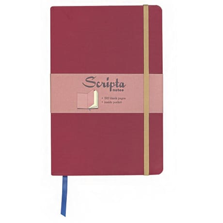 Scripta Notes Large Cinnabar Blank Journal