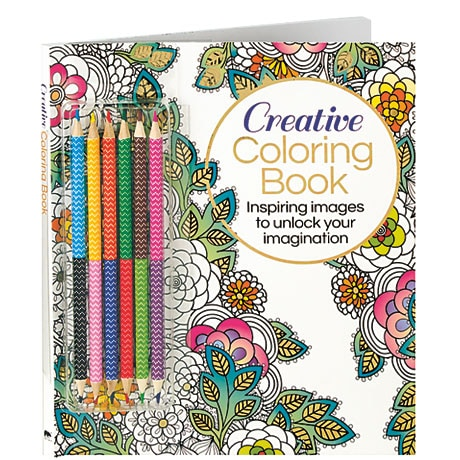 Creative Coloring Book (with Pencils)