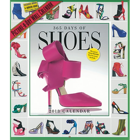 365 Days of Shoes 2018 Wall Calendar