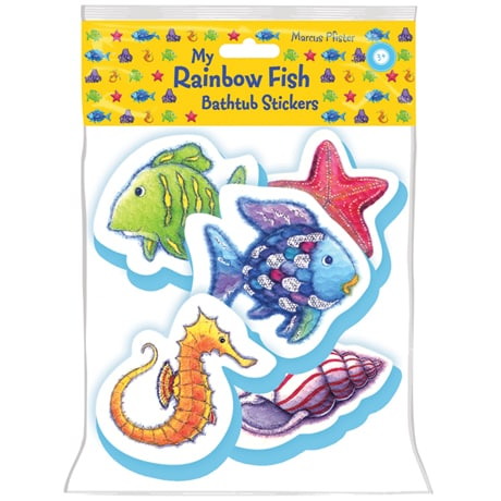My Rainbow Fish Bathtub Stickers