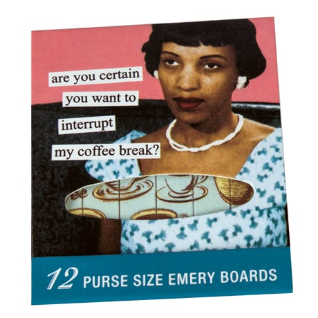 Are You Certain You Want to Interrupt My Coffee Break? Emery Board Travel Pack