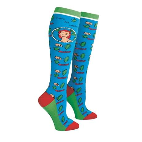 I Love Not Camping Knee Socks