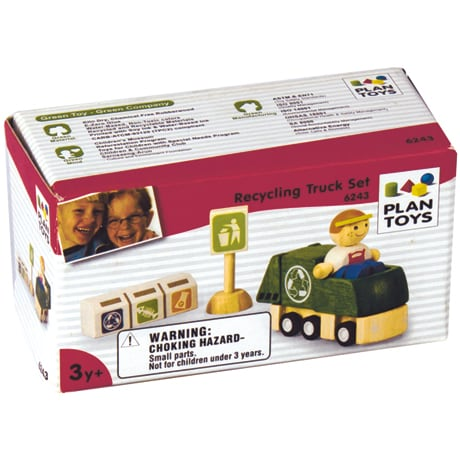 Recycling Truck Toy Set