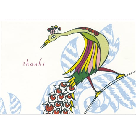 Peacock QuickThanks Notecards