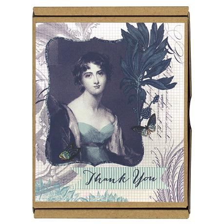 The Blue Lady GreenThanks Boxed Notecards