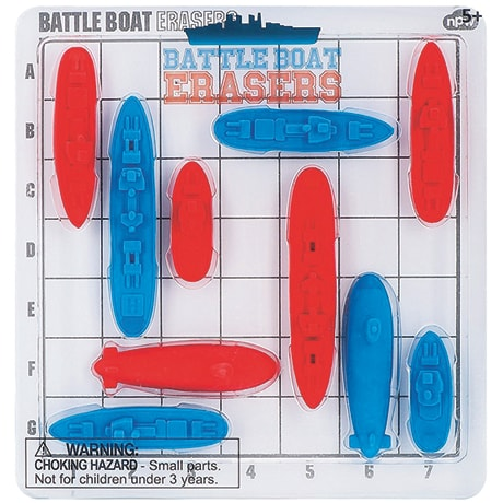 Battle Boat Erasers