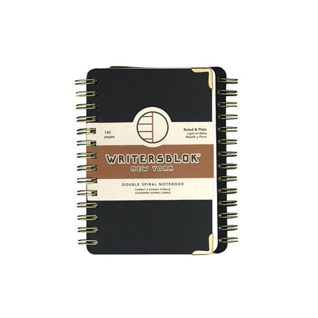 WritersBlok Double Spiral Ruled & Plain Notebook