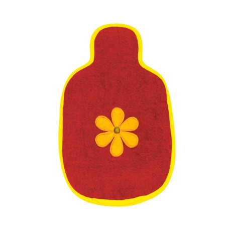 Appliqué Flower Hot Water Bottle Cover