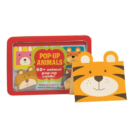 Pop-Up Animals Tin 60+ Animal Pop-Up Cards!