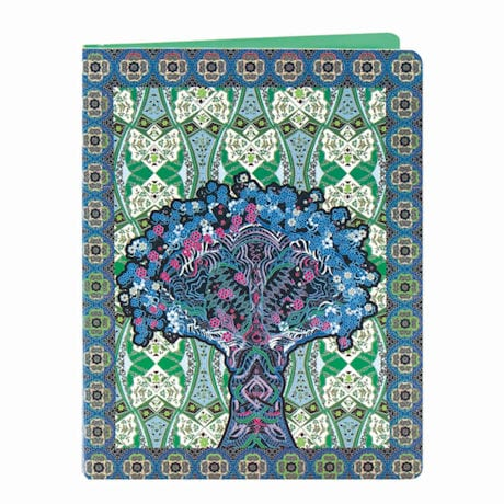 Amrita Sen Blue Palace Tree Deluxe Spiral Notebook