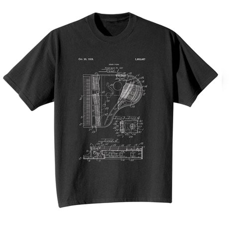 Vintage Patent Piano T-Shirt