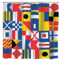 Nautical Flag Shower Curtain