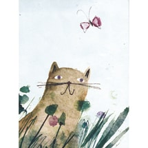 Cat in a Field GreenJournal