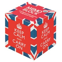 Keep Calm and Carry On Memo Block