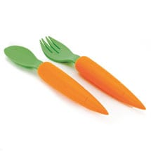 Carrot Spoon And Fork Set